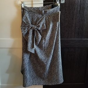 H&M Midi Floral Skirt with Bow size 2